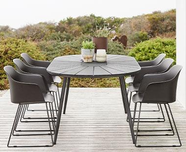 Hvid havestol med skammel Havemøbler • Find billigste pris